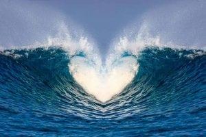two waves crashing together